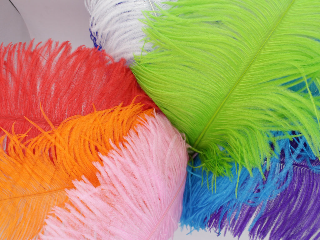 "Yellow Ostrich Feathers Drabs (19-22"")"