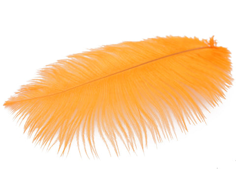 "Orange Ostrich Feathers Drabs (19-22"")"