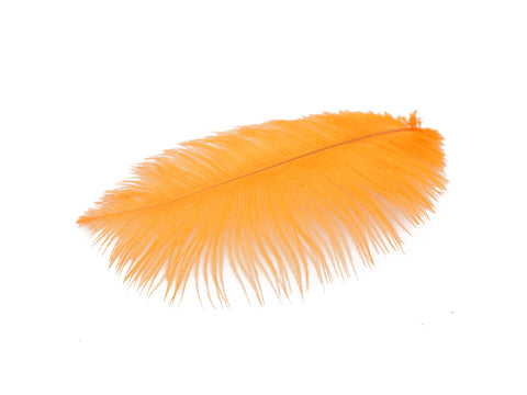 "Orange Ostrich Feathers Drabs (10-12"")"