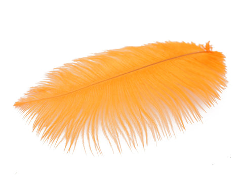"Orange Ostrich Feathers Drabs (13-16"")"