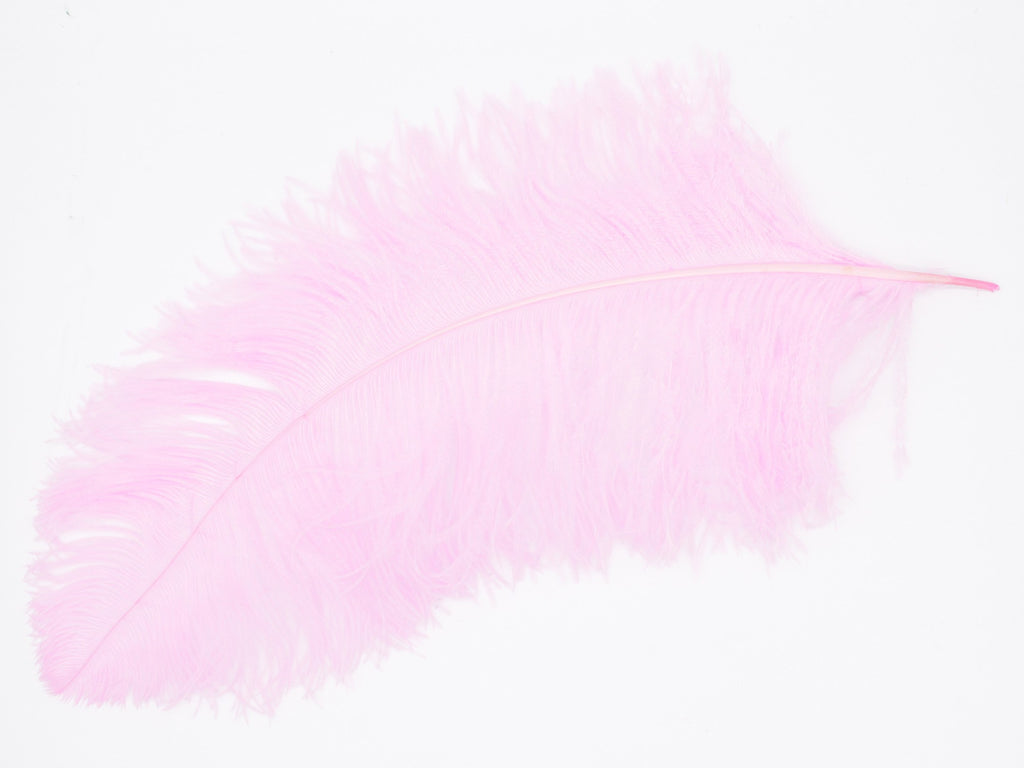 "Pink Ostrich Feathers Drabs (19-22"")"