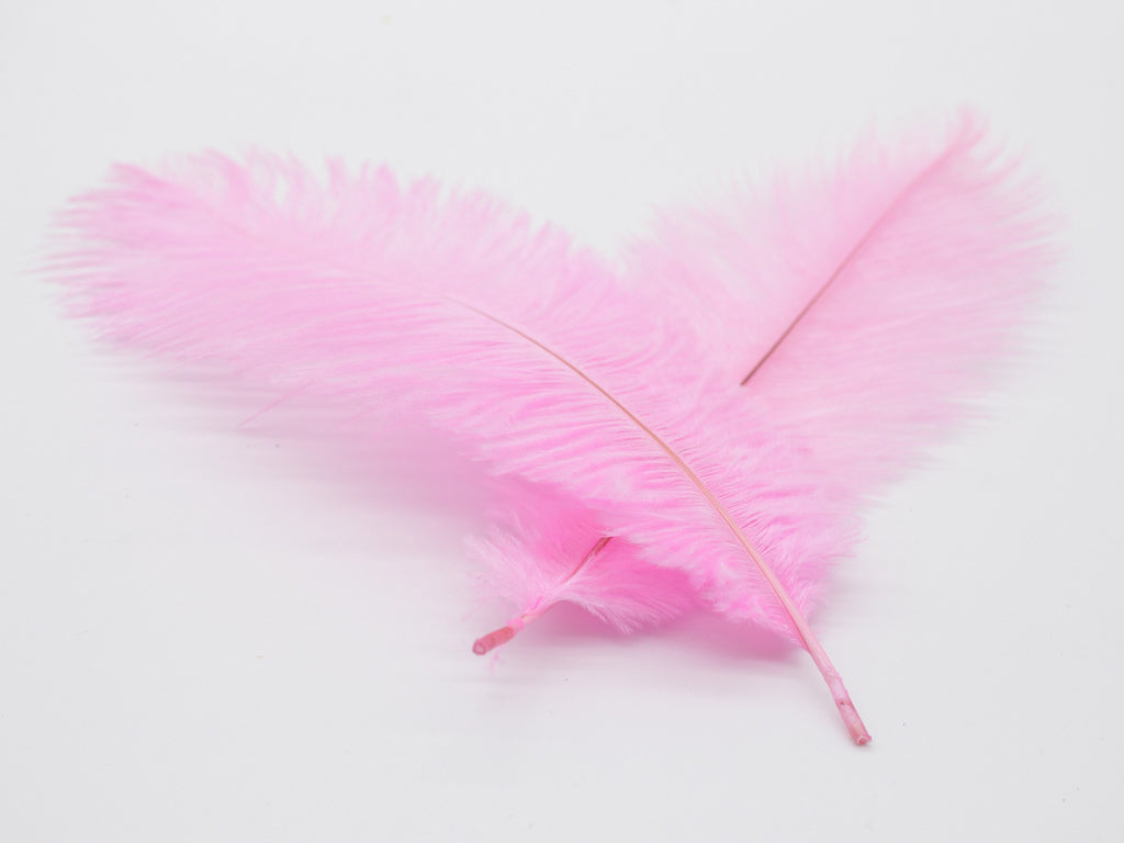 "Pink Ostrich Feathers Drabs (13-16"")"