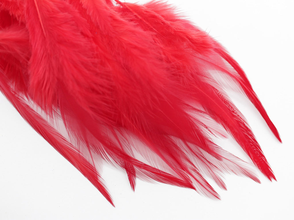 Red Rooster Saddle Feathers