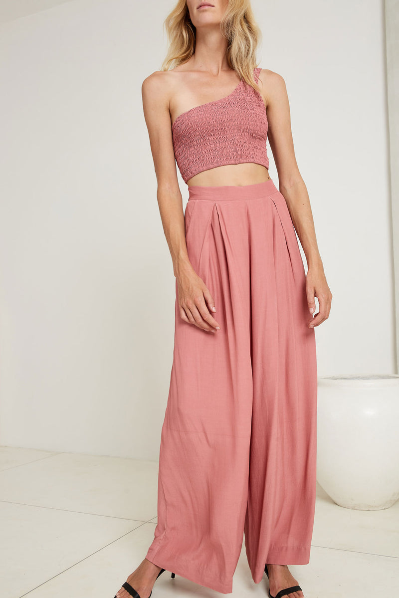 Asymmetrical Crop | Wide Leg Pant
