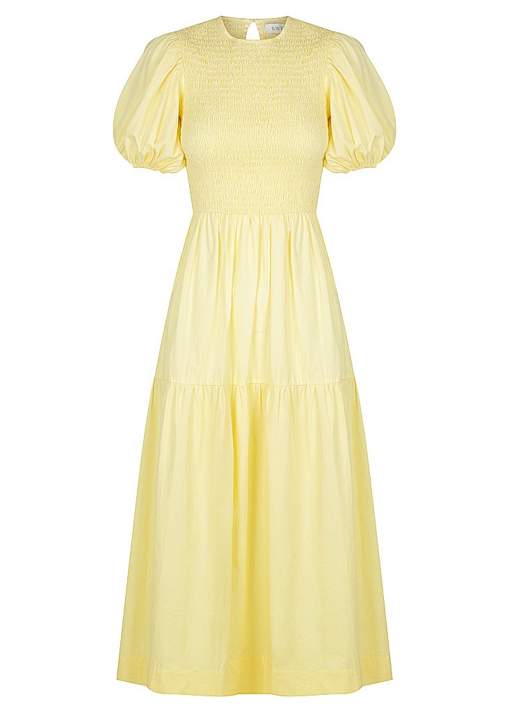Lemon Puff Sleeve Dress