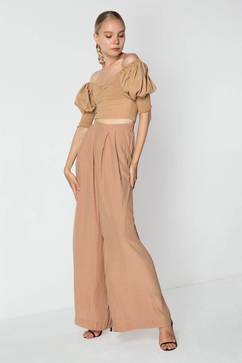 Sweetheart Crop | Wide Leg Pant