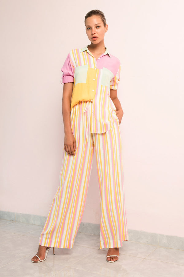 Bright Shirt | Draw String Pant