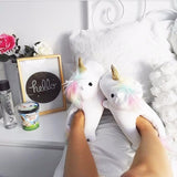 Unicorn Plush Slippers