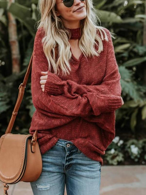 Oversize Peekaboo Knitted Sweater
