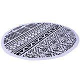Round Beach Towel With Tassel 1