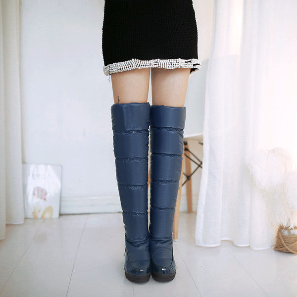 Thigh-High Winter Boots