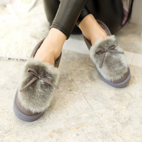 Furry Slip-on Moccasins