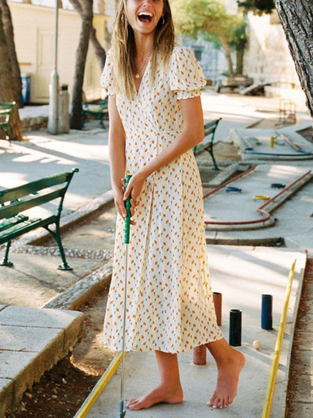 Vintage Bud Wrap Dress