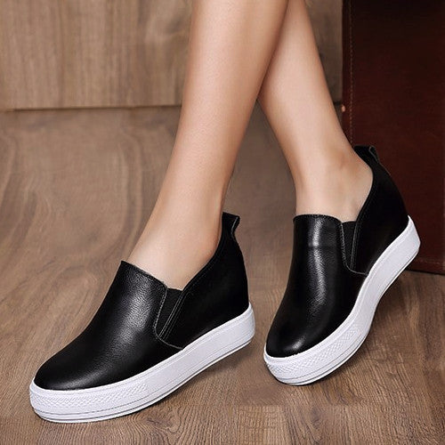 Casual Leather Slip-on Loafers