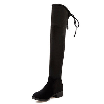 Draw-string Thigh-high Boots | Shoeriously