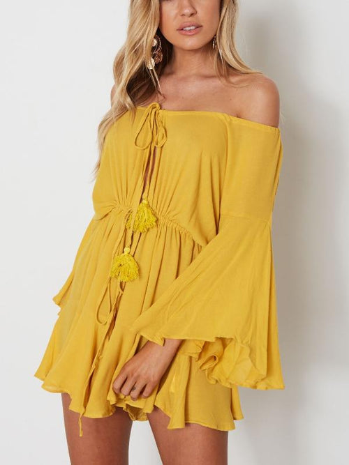 Off Shoulder Tier Playsuit