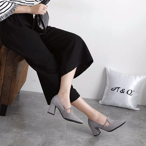 Pointy Casual Slip-on High Heels