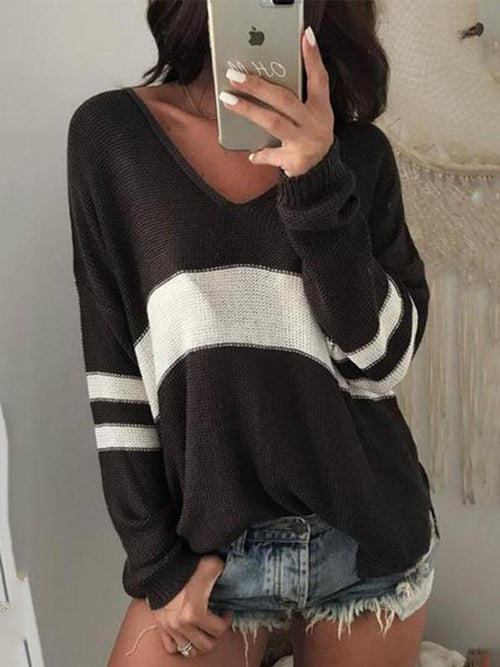 Varsity Loose Knit Sweater