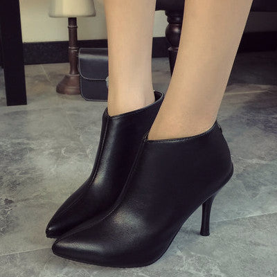 Pointy Ankle High Heel Booties