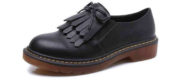 Faux Leather Brogues