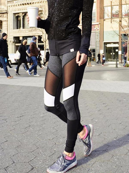 Mesh Color Block Leggings