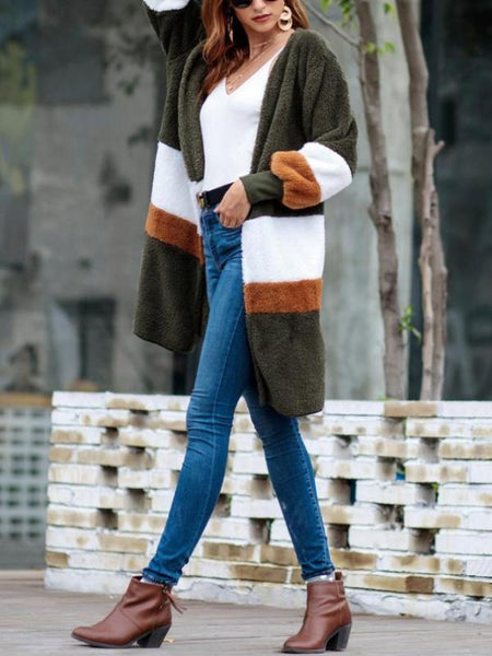 Faux Fur Long Cardigan