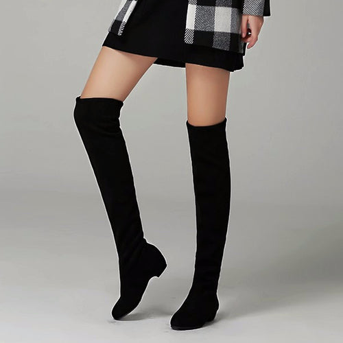 Thigh-high Stretchy Boots