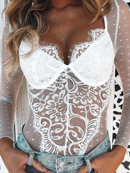 Black Empire Lace Set