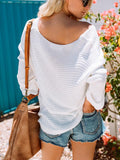 White Basic Long Sweater