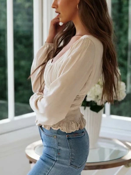 French Puff Sleeve Blouse