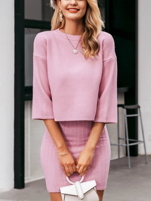 Sweater Dress Two Piece Set
