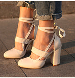 PU Ballerina High Pumps