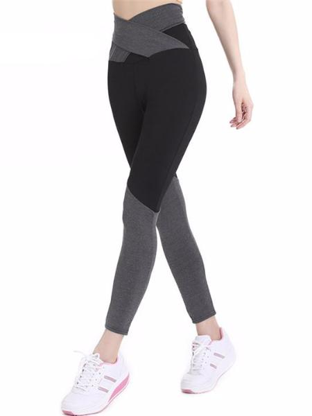 Tie Back Two Tone Leggings
