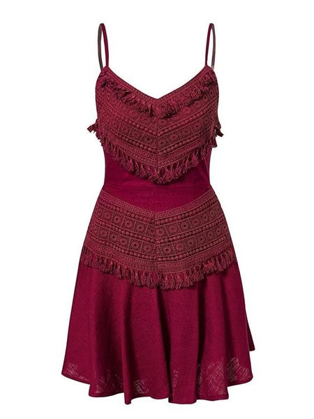 Tassel And Lace Dress