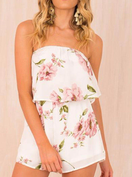 Floral Flare Tube Playsuit