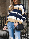 Retro Stripes Knitted Sweater