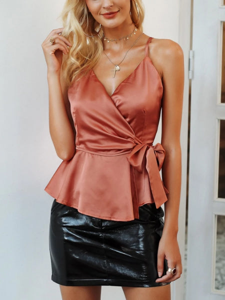 Satin Wrap Cami Top
