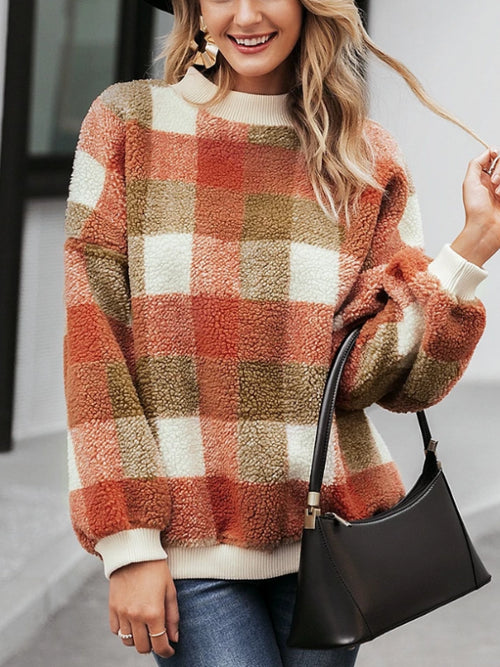 Vintage Fleece Plaid Sweater