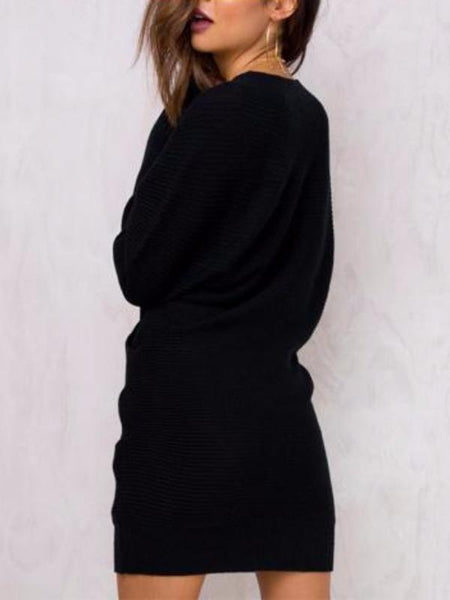 Knitted Wrap Long Sweater
