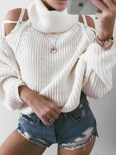 Lacey Cold Shoulder Sweater