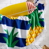 Pineapple Round Beach Towel With Tassel