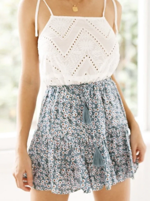 Cornflower Mini Skirt