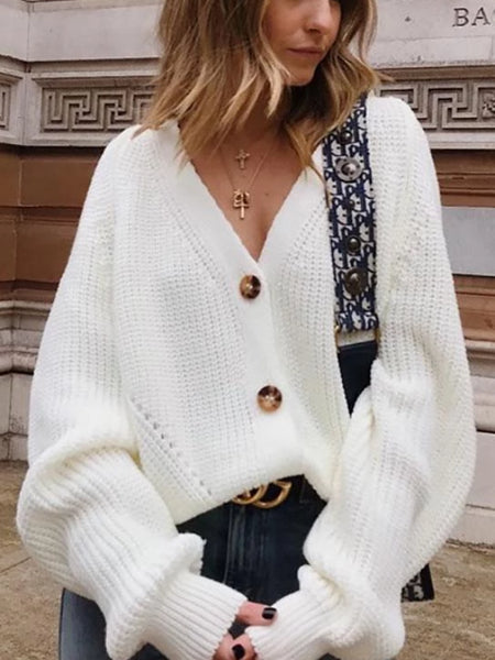 Oversize Button Cardigan