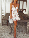 Floral Mini Tier Dress