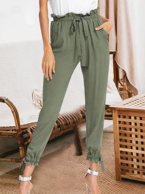 Olive Jogger Style Pants