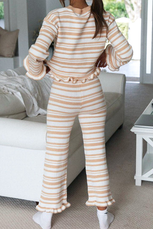 Long sleeves Stripes Lounge Set
