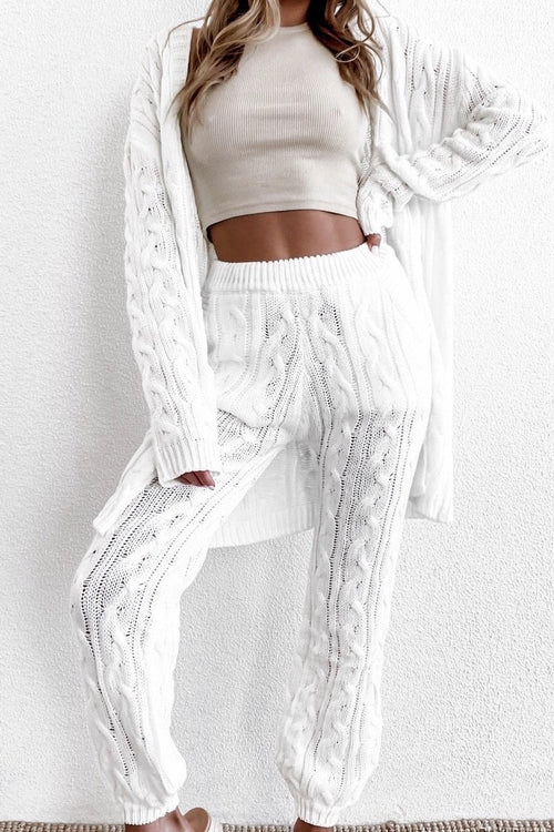 White Cable Knit Set