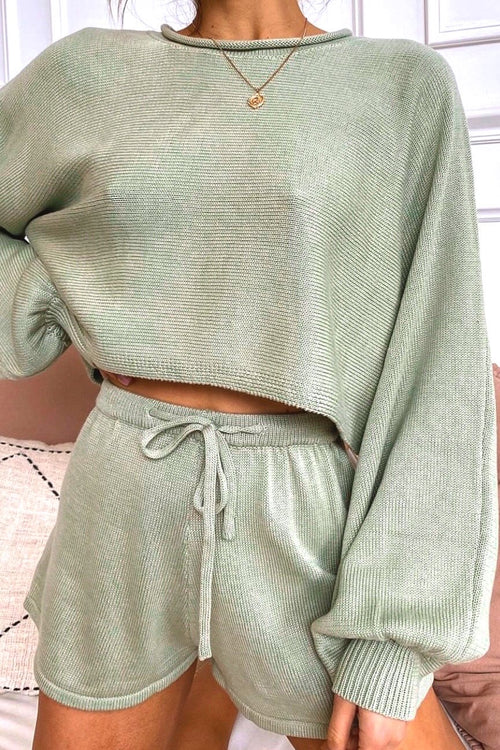 Sage Green Knitted Lounge-set