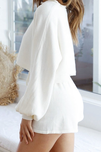 White Knitted Lounge-set