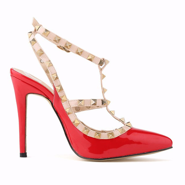 Pointy Studded 10cm Stilettos